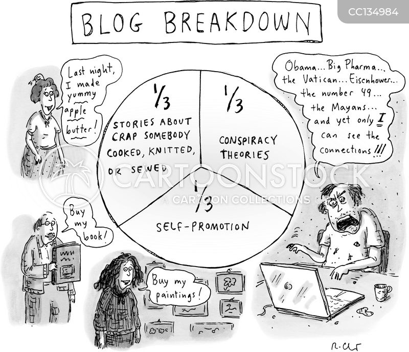 self-promoter cartoon