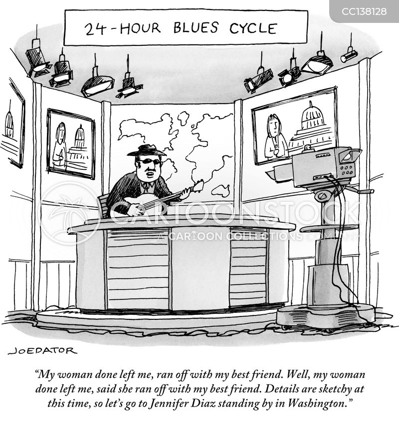 blues artists cartoon