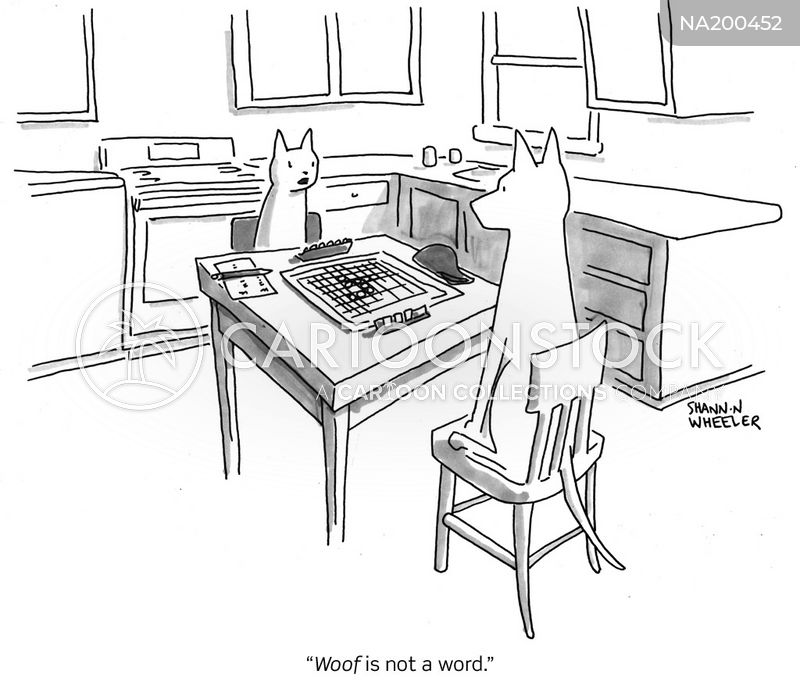 Word Games Woof cartoon