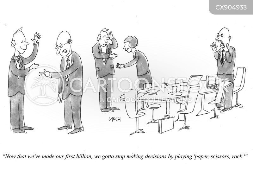 rock paper scissors cartoon