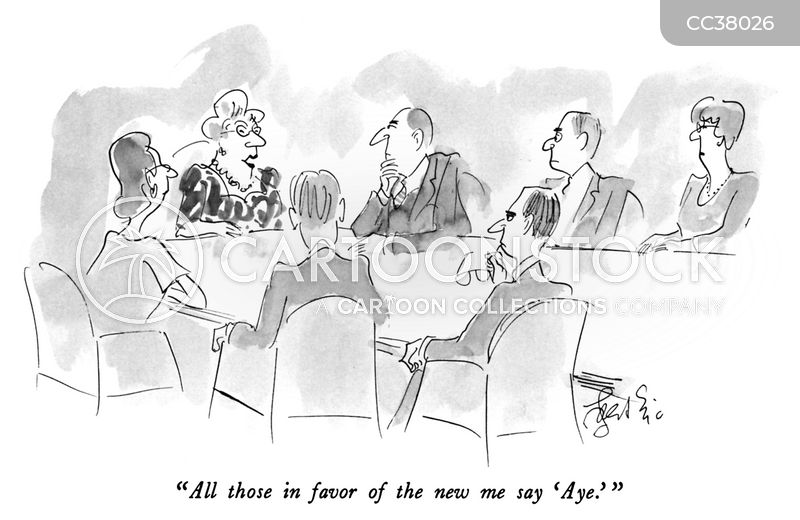 business executives cartoon