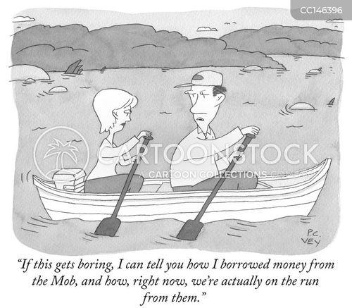 borrow money cartoon