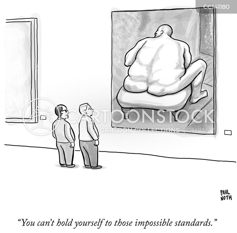 standards of beauty cartoon