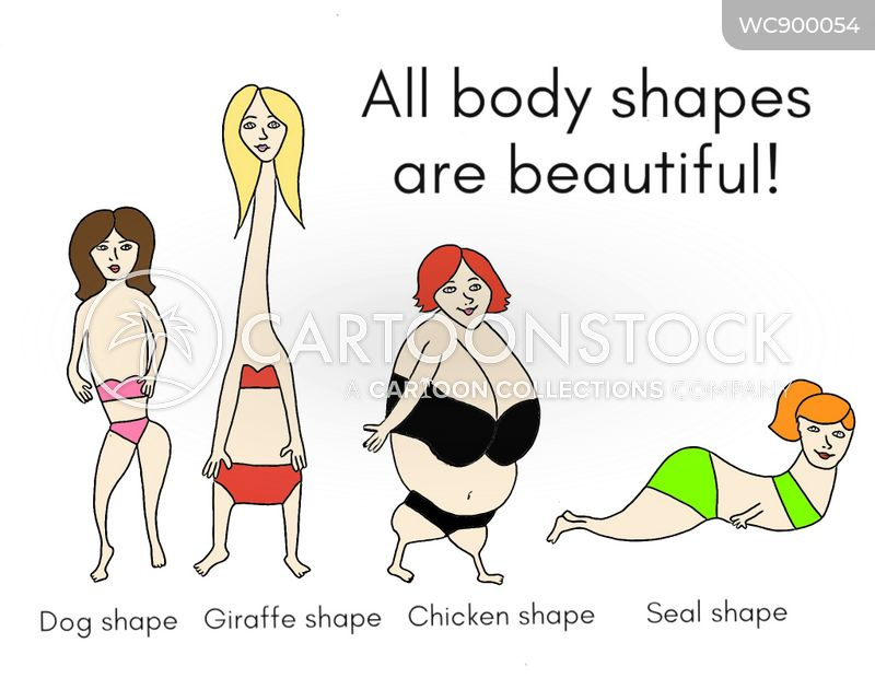 body shapes cartoon