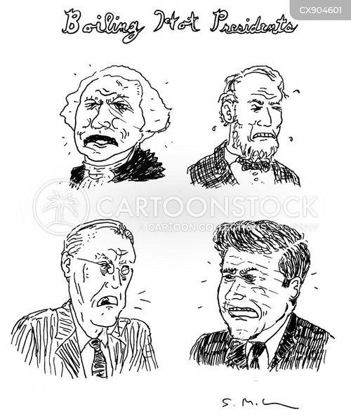 president washington cartoon