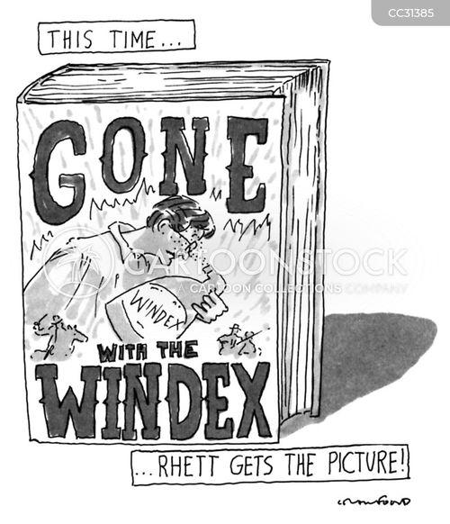 book titles cartoon