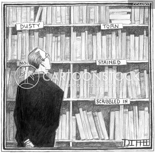 book shelf cartoon