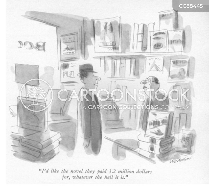 book shop cartoon