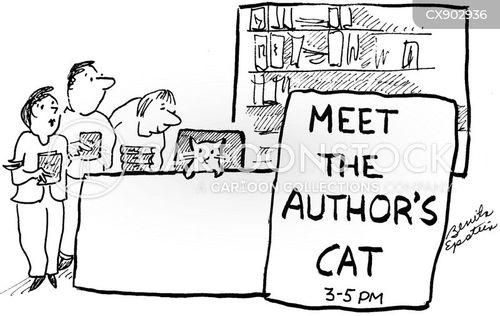 meet the author cartoon