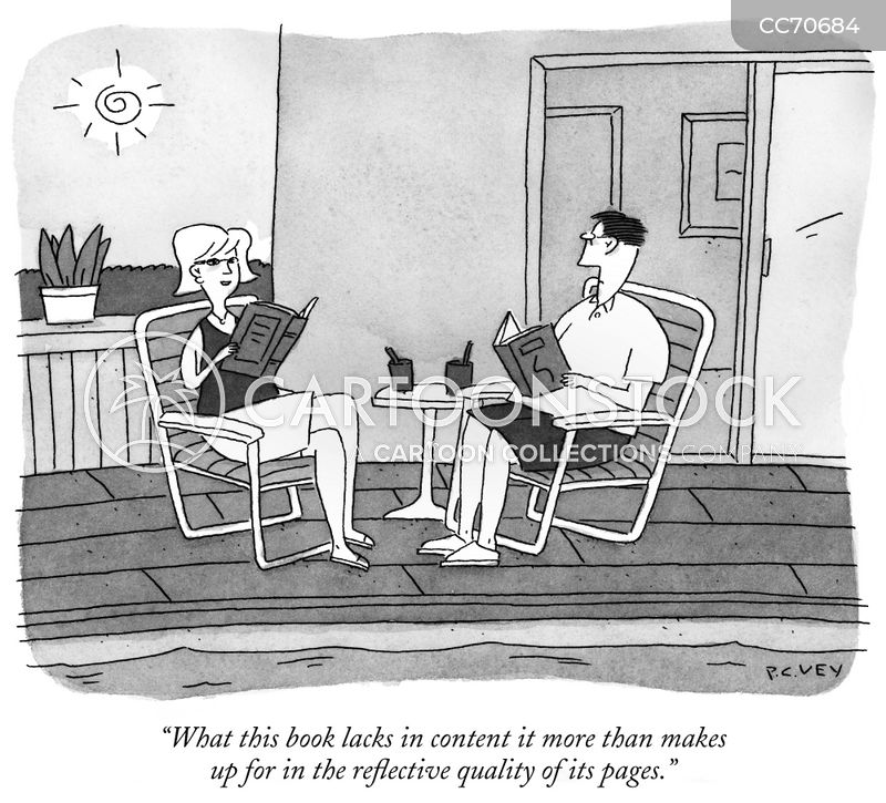 Vacation Book cartoon