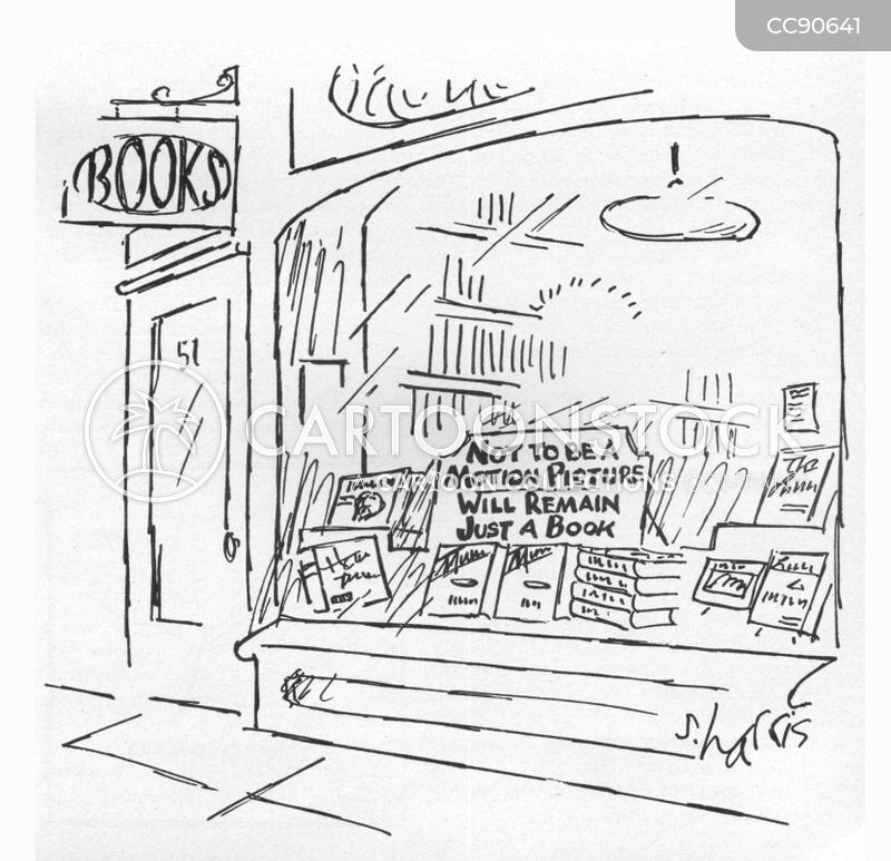 book seller cartoon