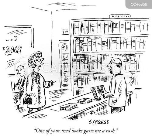 retail worker cartoon
