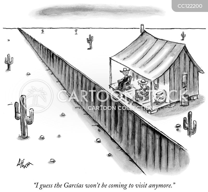 immigration control cartoon