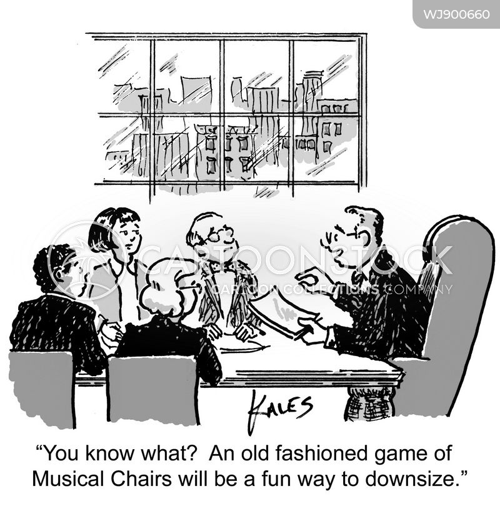 job cuts cartoon