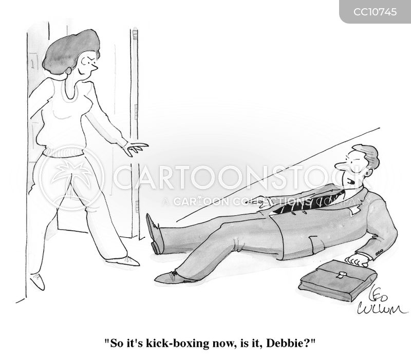 Kick-boxing cartoon