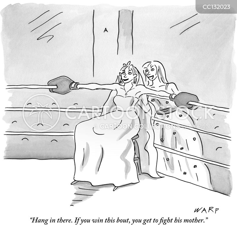 Prizefighting cartoon