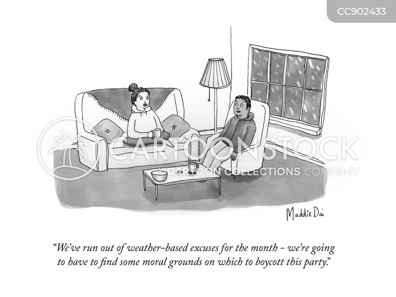 house party cartoon