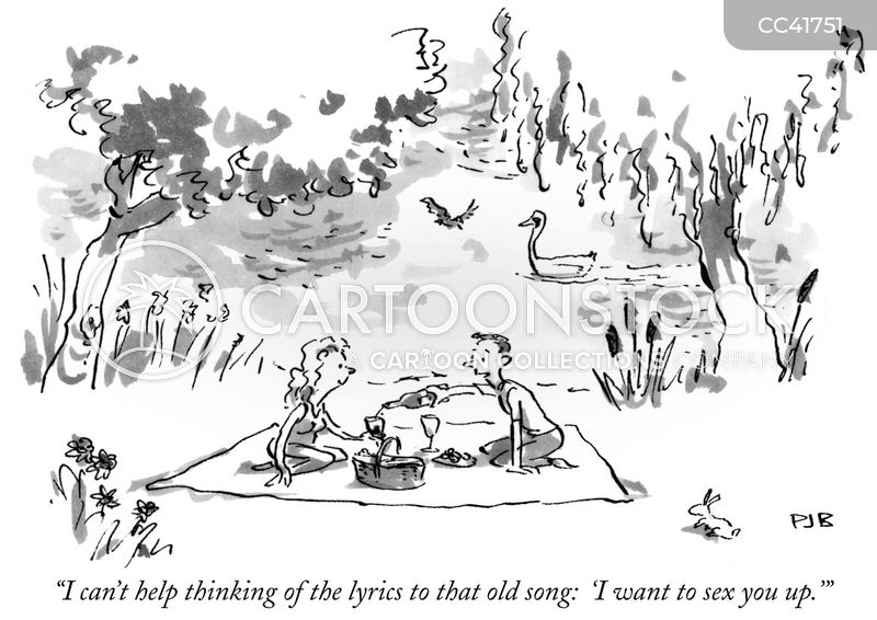 Romantic Picnic cartoon