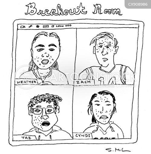 university students cartoon