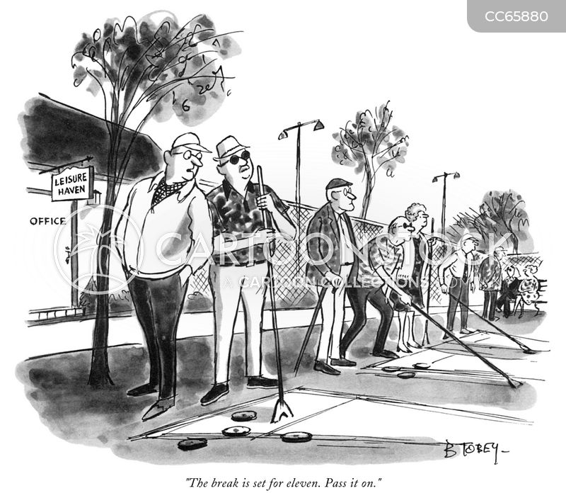 retirement community cartoon