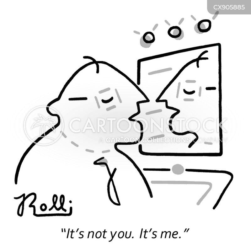 talking to yourself cartoon