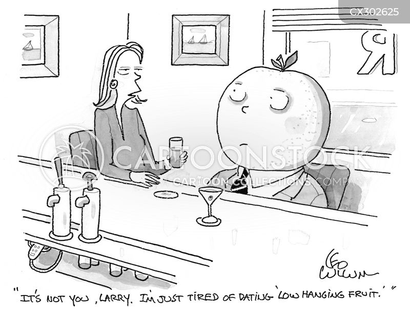 low hanging fruits cartoon