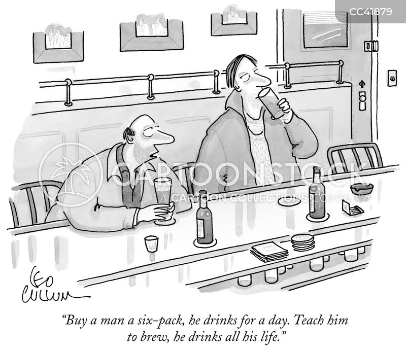 craft beers cartoon