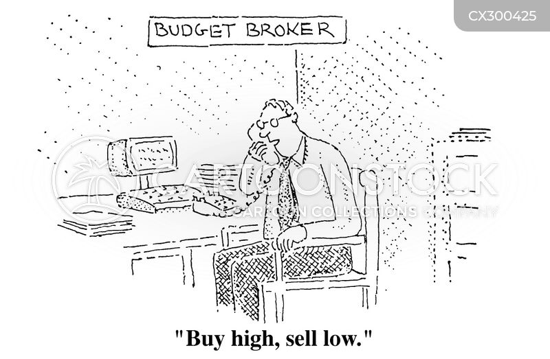 buying and selling cartoon