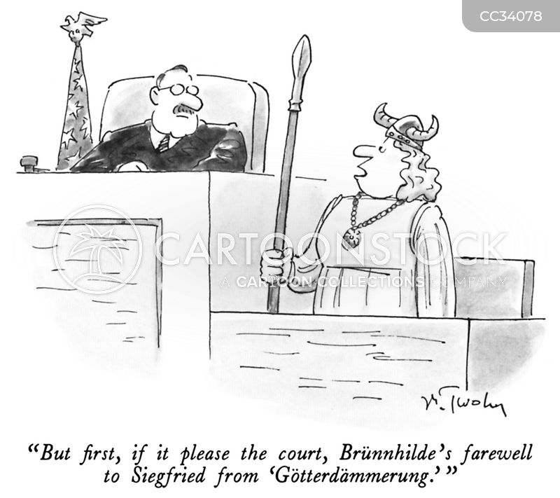 witness stands cartoon