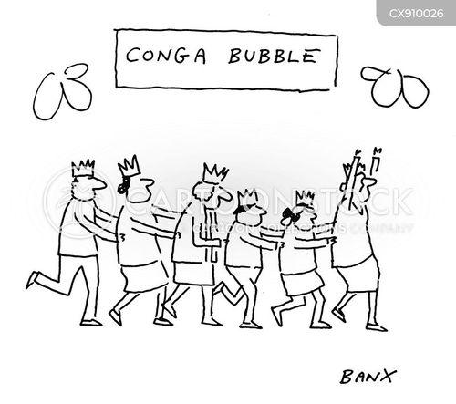 conga lines cartoon