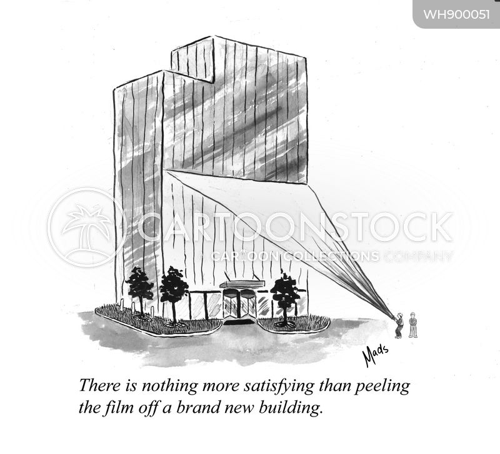 new building cartoon