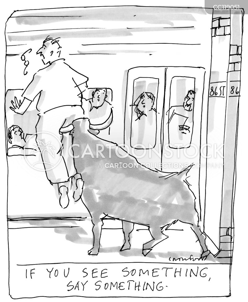 train station cartoon