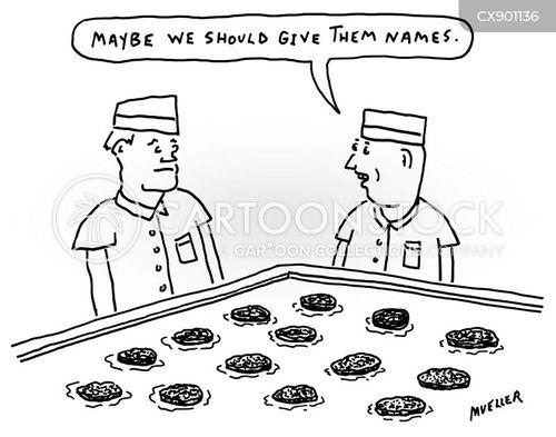 fast food worker cartoon