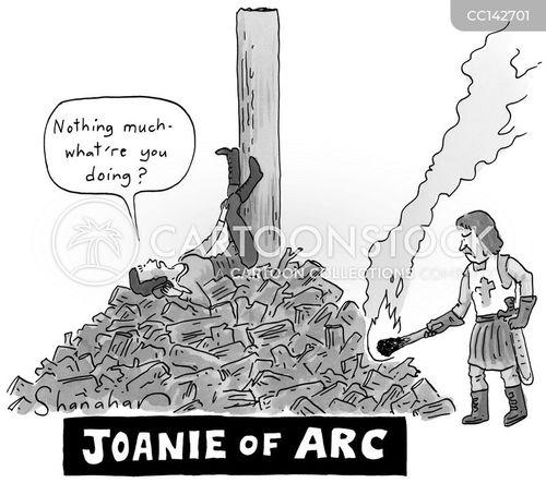 burning cartoon