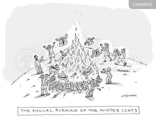 warming up cartoon