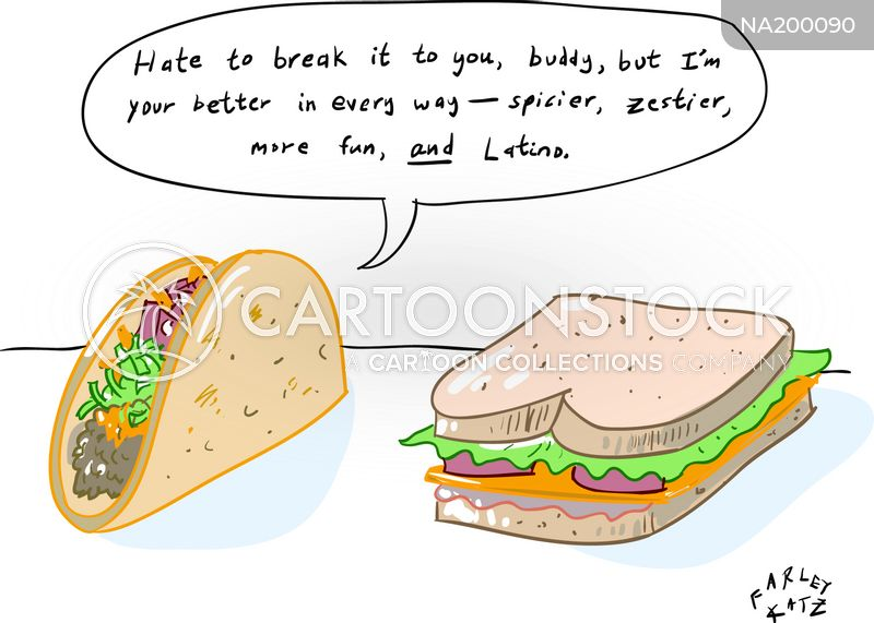 sandwich fillers cartoon