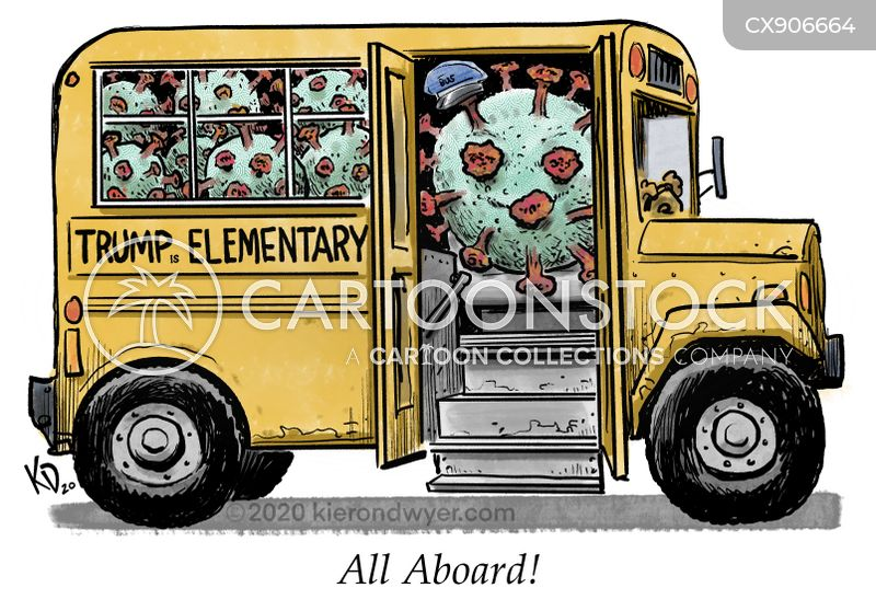School Bus Cartoons And Comics Funny Pictures From Cartoonstock