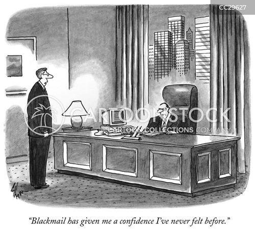 blackmail cartoon