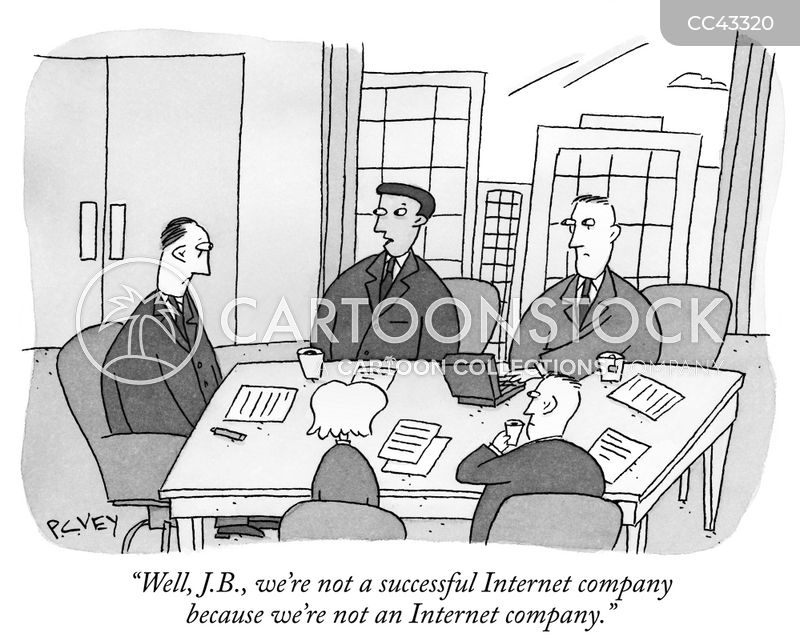 dot com company cartoon