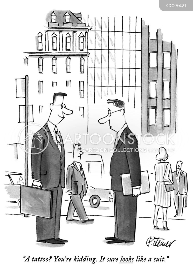 business clothes cartoon