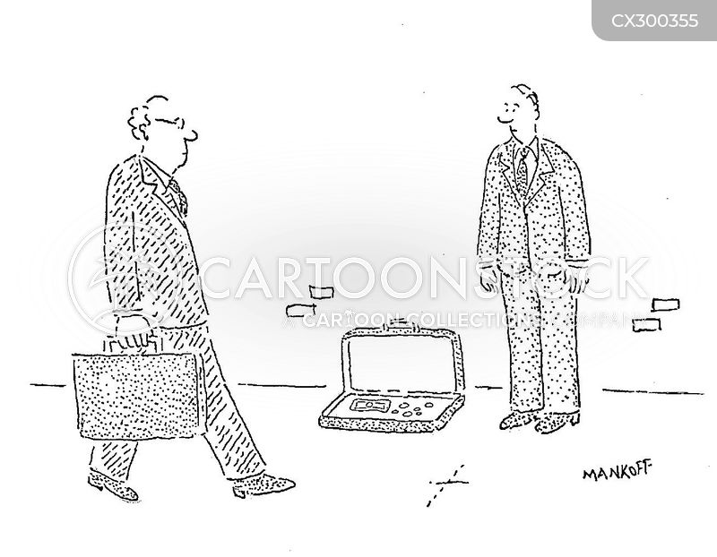briefcase cartoon