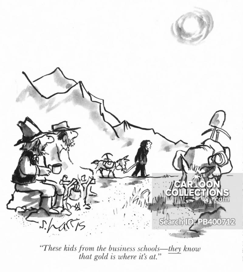 gold rushes cartoon