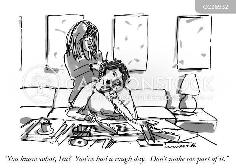 rough day cartoon
