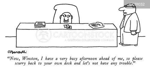 desks cartoon