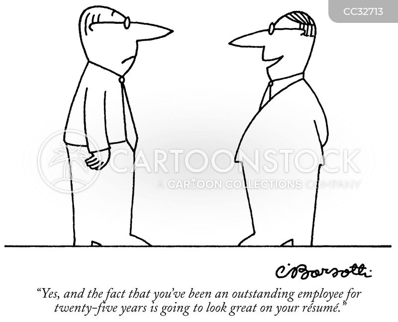 model employee cartoon