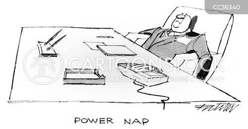 sleeping on the job cartoon