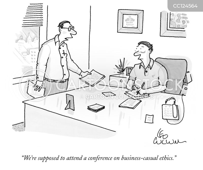 office attire cartoon