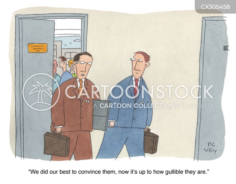 gullible cartoon