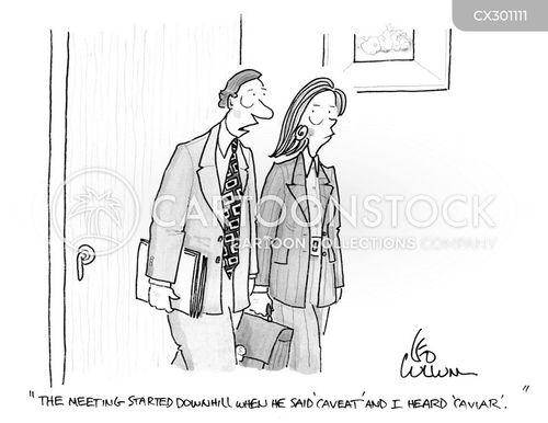 caveat cartoon
