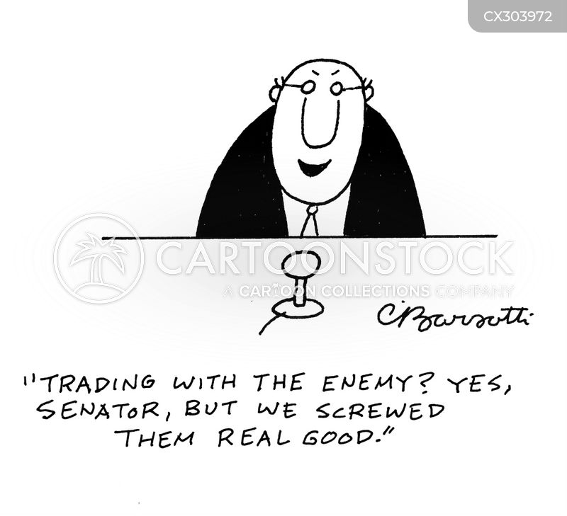 trading with the enemy cartoon